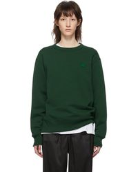 Acne Studios - Green Fairview Face Sweatshirt - Lyst