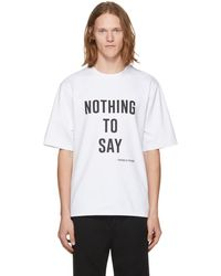 Pyer Moss - White 'nothing To Say' T-shirt - Lyst