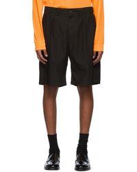 Hope Black Tuck Shorts