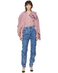 Y. Project - Ruffle Detail Jeans - Lyst