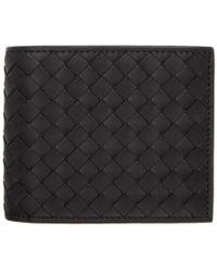 Bottega Veneta - Black Intrecciato Money Clip Wallet - Lyst