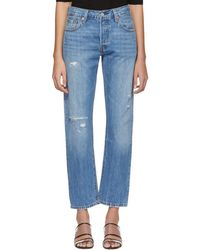Levi's - Blue 501 Straight Jeans - Lyst