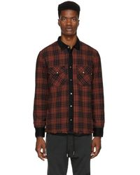 DIESEL - Reversible Red And Black D-wear Shirt - Lyst