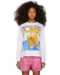 Ashley Williams - White Beach Bum T-shirt - Lyst
