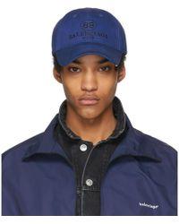 5b5f75ff083 Balenciaga Blue Logo Cap in Blue for Men - Lyst
