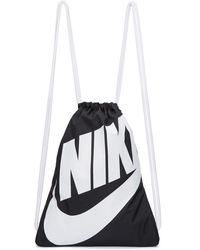 Nike - Black And White Heritage Logo Gym Backpack - Lyst