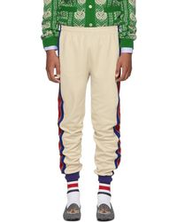 Gucci - Beige And Blue Striped Lounge Pants - Lyst