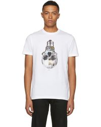 PS by Paul Smith - White Slim Fit Skull T-shirt - Lyst