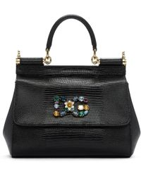 Dolce & Gabbana | Black Small Miss Sicily Bag | Lyst