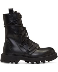 Helmut Lang - Black Speed Lace Boots - Lyst