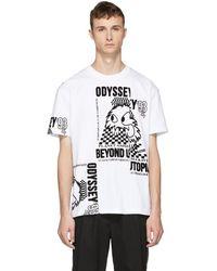 McQ - White Patchwork T-shirt - Lyst
