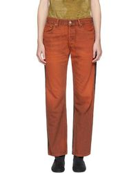 Bless - Two-pack Levi's Edition Orange & Green Pleatfront 501 Jeans - Lyst