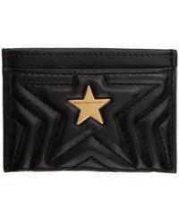 Stella McCartney - Black Alter-nappa Star Card Holder - Lyst