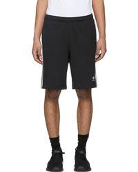 adidas Originals - Black 3-stripe Shorts - Lyst