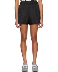 Prada | Black Nylon Gabardine Logo Shorts | Lyst
