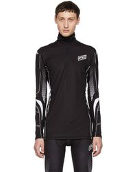 Givenchy - Black And White Sporty Zip-up Top - Lyst