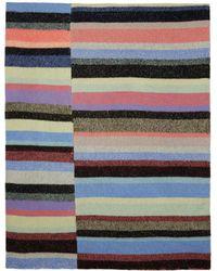 The Elder Statesman - Multicolour Cashmere Striped Super Soft Blanket - Lyst