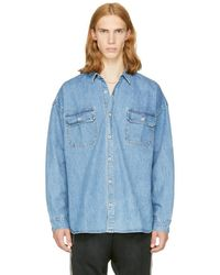 Fear Of God - Indigo Oversized Denim Shirt - Lyst