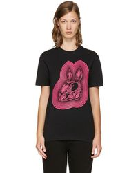 McQ - Black Bunny Be Here Now T-shirt - Lyst