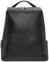 Valextra - Black V Backpack - Lyst