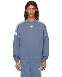 Adidas Originals | Grey Pipe Crew Sweatshirt | Lyst