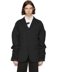 KENZO   Black Wide Sleeve Blazer   Lyst