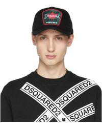 DSquared² - Black Maple Leaf Baseball Cap - Lyst