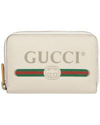 Gucci - Off-white Logo Continental Wallet - Lyst