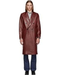 Paul Smith - Red Double-breasted Coat - Lyst