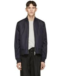 Tiger Of Sweden - Reversible Blue Odiello Bomber Jacket - Lyst