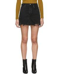 Agolde - Black Quinn Hi Rise Miniskirt - Lyst