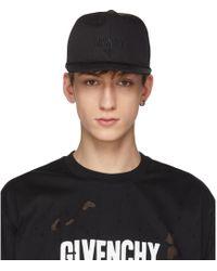 Givenchy - Black Three-star Logo Cap - Lyst