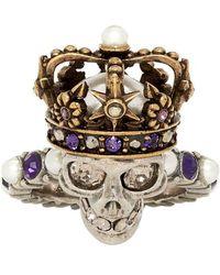 Alexander McQueen - Embellished Ring - Lyst