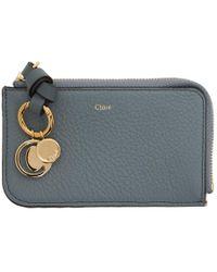 Chloé - Blue Alphabet Card Holder - Lyst