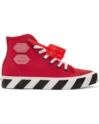 Off-White c/o Virgil Abloh - Red Vulcanized High-top Sneakers - Lyst