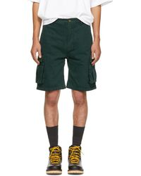 Acne Studios - Green Bla Konst Sheen Over Shorts - Lyst