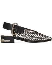 Toga Pulla | Black Mesh Slingback Loafers | Lyst