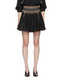 Étoile Isabel Marant - Black Breeda Miniskirt - Lyst
