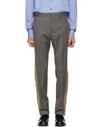 Prada - Grey And Beige Houndstooth Trousers - Lyst