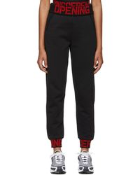 Opening Ceremony - Black Elastic Logo Lounge Trousers - Lyst