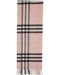 Burberry - Pink Cashmere Giant Icon Scarf - Lyst
