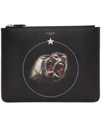 Givenchy - Black Large Monkey Brothers Pouch - Lyst