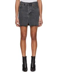 Vetements - Black Levis Edition Denim Miniskirt - Lyst