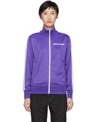 Palm Angels - Purple And White Classic Track Jacket - Lyst