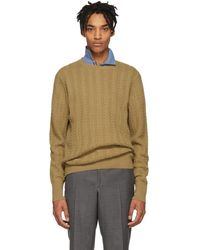 Burberry - Beige Cashmere Harwood Sweater - Lyst