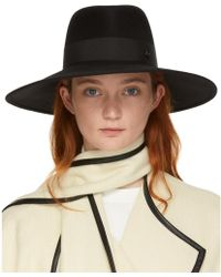 Maison Michel - Black Felt Pina Hat - Lyst