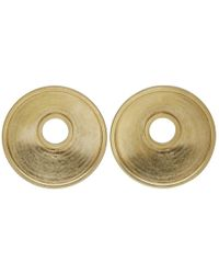 Marni - Gold Round Clip-on Earrings - Lyst