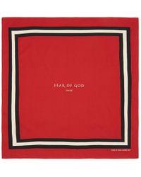 Fear Of God - Red Logo Bandana - Lyst
