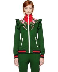 Gucci - Embroidered Technical Jersey Jacket - Lyst