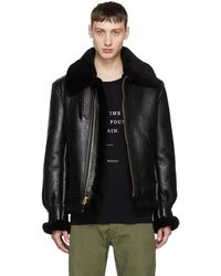 Schott Nyc - Black Shearling B-3 Jacket - Lyst